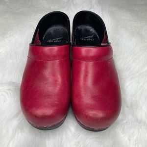 Red and Black Soled Danskos